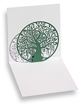 carte pop-up arbre découpe laser